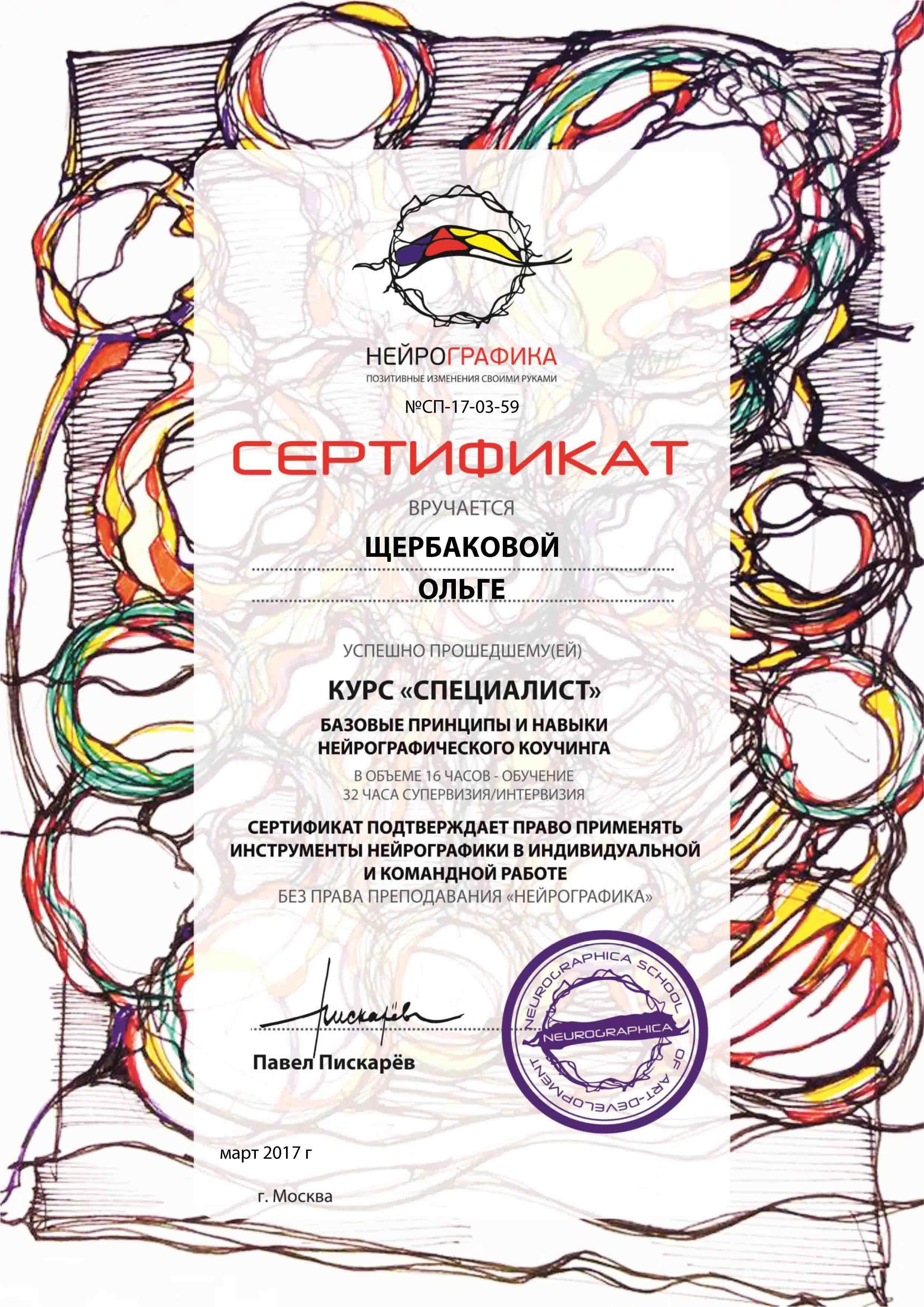 нейрографика с Ольгой Щербаковой1